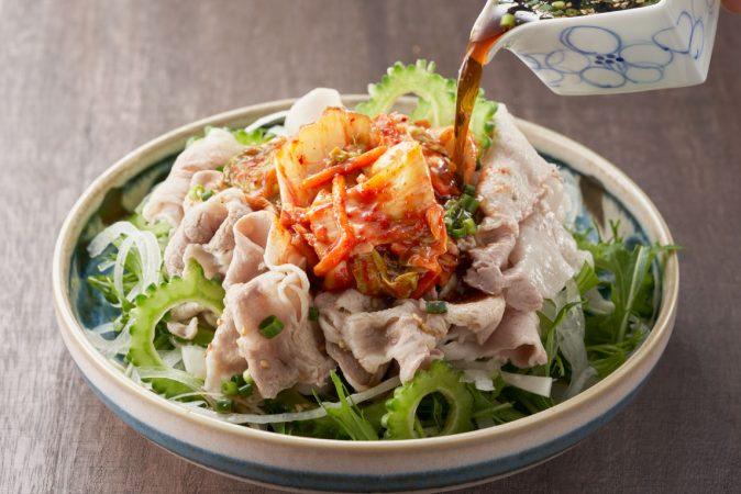 夏野菜とキムチの冷しゃぶサラダ を使ったレシピ | 明太子の島本